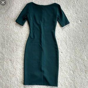 Forest green midi sheath dress
